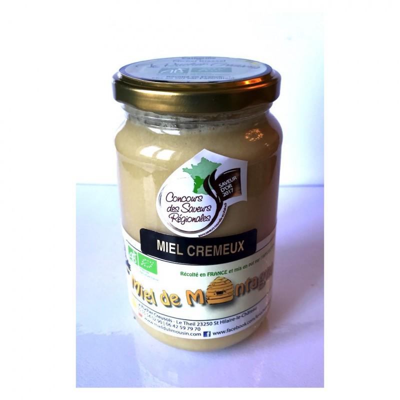Miel de Montagne Crémeux BIO récolté en France.