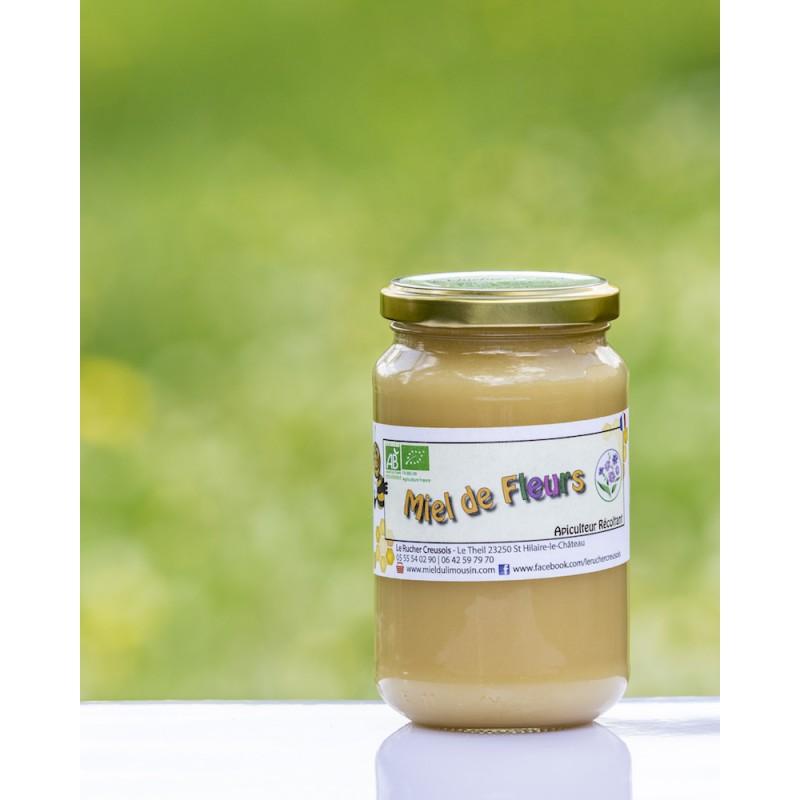 Miel de Fleur Bio récolté en France